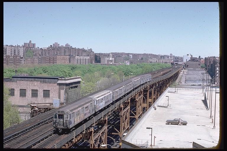 (141k, 768x512)<br><b>Country:</b> United States<br><b>City:</b> New York<br><b>System:</b> New York City Transit<br><b>Line:</b> IRT Woodlawn Line<br><b>Location:</b> 161st Street/River Avenue (Yankee Stadium) <br><b>Route:</b> 4<br><b>Car:</b> R-17 (St. Louis, 1955-56) 6691 <br><b>Photo by:</b> Steve Zabel<br><b>Collection of:</b> Joe Testagrose<br><b>Date:</b> 1979<br><b>Viewed (this week/total):</b> 0 / 6131