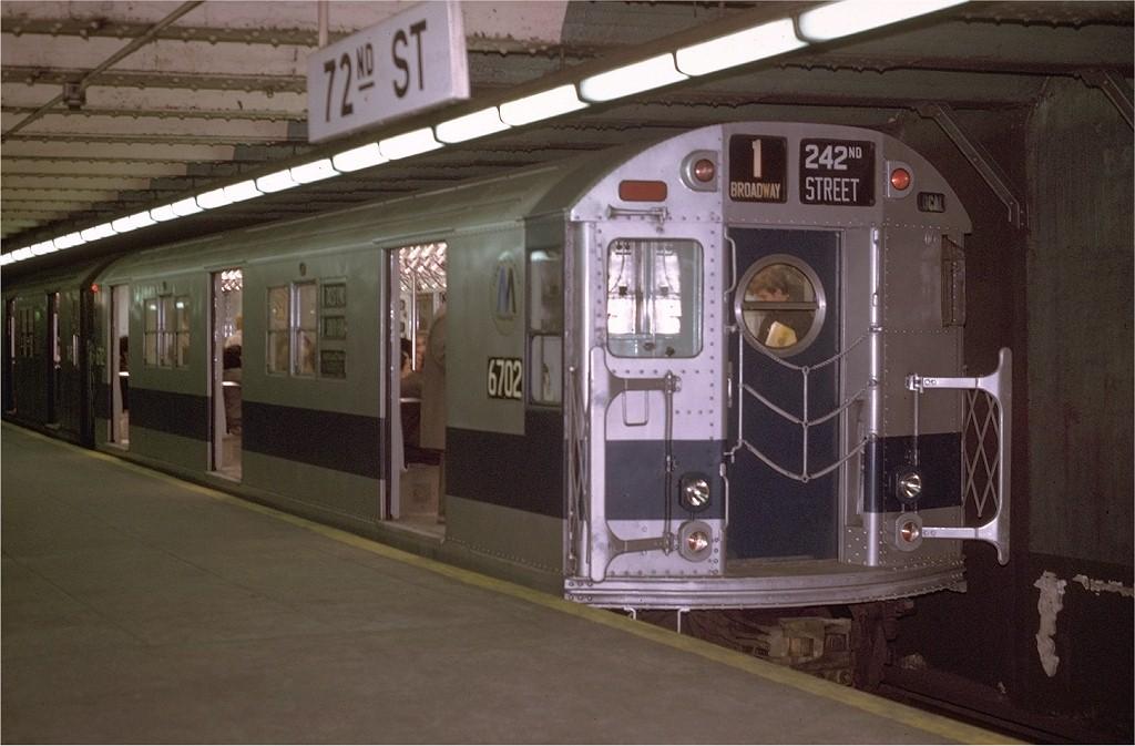 (167k, 1024x673)<br><b>Country:</b> United States<br><b>City:</b> New York<br><b>System:</b> New York City Transit<br><b>Line:</b> IRT West Side Line<br><b>Location:</b> 72nd Street <br><b>Route:</b> 1<br><b>Car:</b> R-17 (St. Louis, 1955-56) 6702 <br><b>Photo by:</b> Joe Testagrose<br><b>Date:</b> 4/22/1970<br><b>Viewed (this week/total):</b> 0 / 3014