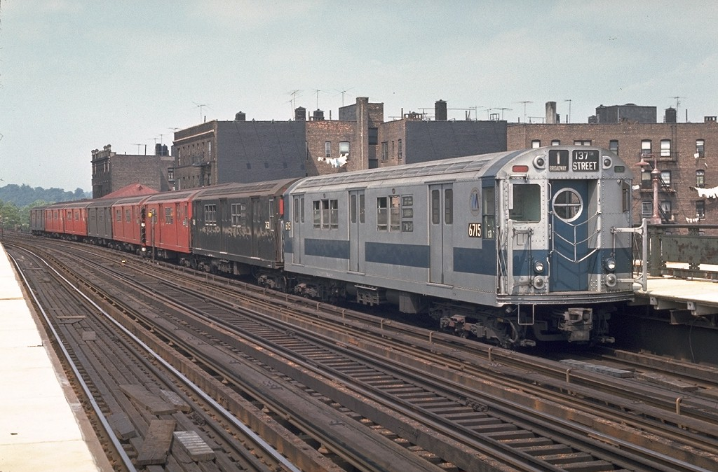 (203k, 1024x674)<br><b>Country:</b> United States<br><b>City:</b> New York<br><b>System:</b> New York City Transit<br><b>Line:</b> IRT West Side Line<br><b>Location:</b> 238th Street <br><b>Route:</b> 1<br><b>Car:</b> R-17 (St. Louis, 1955-56) 6715 <br><b>Photo by:</b> Joe Testagrose<br><b>Date:</b> 5/31/1970<br><b>Viewed (this week/total):</b> 0 / 2849