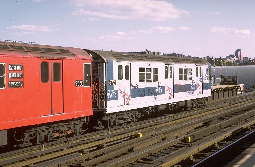 (195k, 1024x672)<br><b>Country:</b> United States<br><b>City:</b> New York<br><b>System:</b> New York City Transit<br><b>Line:</b> IRT West Side Line<br><b>Location:</b> 238th Street <br><b>Route:</b> 1<br><b>Car:</b> R-17 (St. Louis, 1955-56) 6721 <br><b>Photo by:</b> Joe Testagrose<br><b>Date:</b> 6/10/1972<br><b>Viewed (this week/total):</b> 0 / 2974