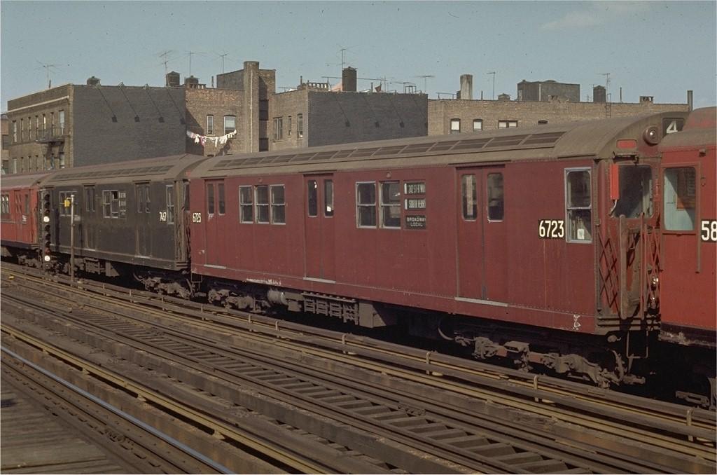 (183k, 1024x678)<br><b>Country:</b> United States<br><b>City:</b> New York<br><b>System:</b> New York City Transit<br><b>Line:</b> IRT West Side Line<br><b>Location:</b> 238th Street <br><b>Route:</b> 1<br><b>Car:</b> R-17 (St. Louis, 1955-56) 6723 <br><b>Photo by:</b> Joe Testagrose<br><b>Date:</b> 4/18/1970<br><b>Viewed (this week/total):</b> 2 / 2805