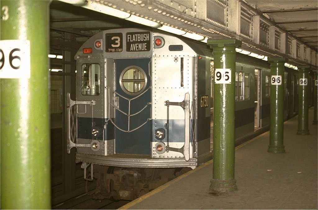 (195k, 1024x677)<br><b>Country:</b> United States<br><b>City:</b> New York<br><b>System:</b> New York City Transit<br><b>Line:</b> IRT West Side Line<br><b>Location:</b> 96th Street <br><b>Route:</b> 3<br><b>Car:</b> R-17 (St. Louis, 1955-56) 6730 <br><b>Photo by:</b> Joe Testagrose<br><b>Date:</b> 5/2/1970<br><b>Viewed (this week/total):</b> 0 / 5184