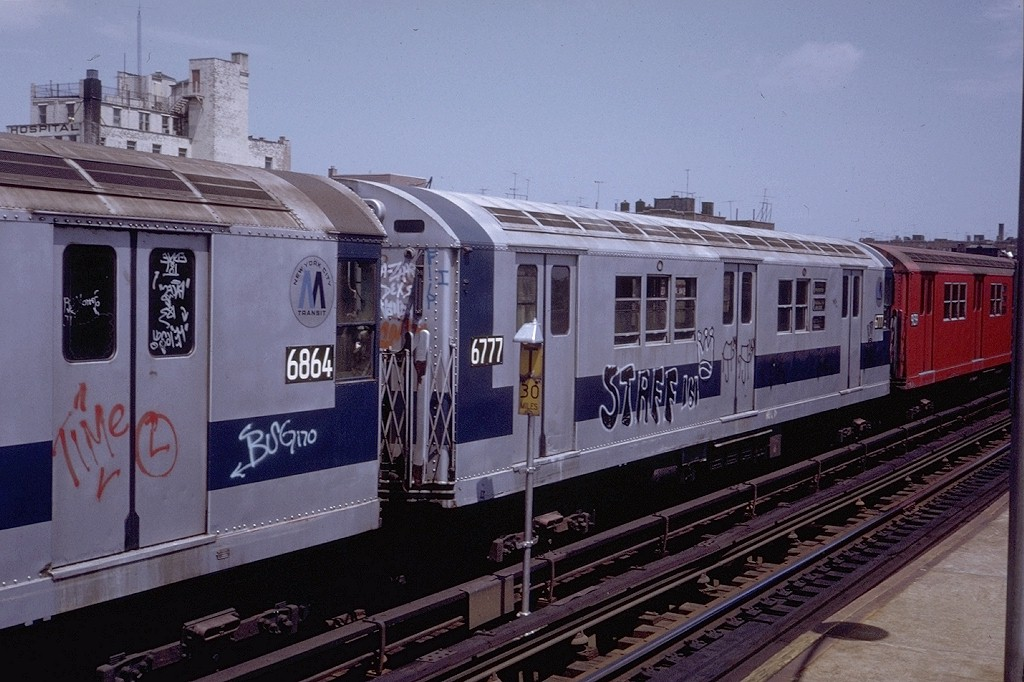 (193k, 1024x682)<br><b>Country:</b> United States<br><b>City:</b> New York<br><b>System:</b> New York City Transit<br><b>Line:</b> IRT Pelham Line<br><b>Location:</b> Zerega Avenue <br><b>Route:</b> 6<br><b>Car:</b> R-17 (St. Louis, 1955-56) 6777 <br><b>Photo by:</b> Steve Zabel<br><b>Collection of:</b> Joe Testagrose<br><b>Date:</b> 7/23/1972<br><b>Viewed (this week/total):</b> 0 / 3075