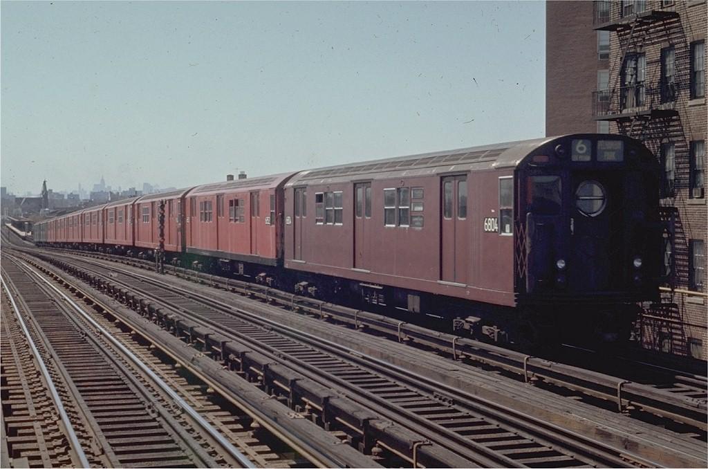 (194k, 1024x678)<br><b>Country:</b> United States<br><b>City:</b> New York<br><b>System:</b> New York City Transit<br><b>Line:</b> IRT Pelham Line<br><b>Location:</b> Buhre Avenue <br><b>Route:</b> 6<br><b>Car:</b> R-17 (St. Louis, 1955-56) 6804 <br><b>Photo by:</b> Joe Testagrose<br><b>Date:</b> 4/12/1970<br><b>Viewed (this week/total):</b> 0 / 3909