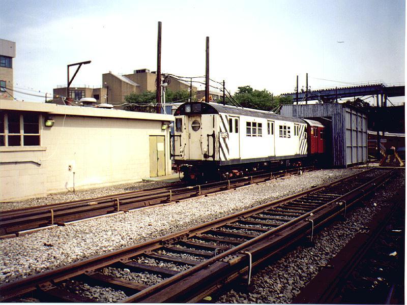 (111k, 800x600)<br><b>Country:</b> United States<br><b>City:</b> New York<br><b>System:</b> New York City Transit<br><b>Location:</b> Westchester Yard<br><b>Car:</b> R-17 (St. Louis, 1955-56) 36895 (ex-6895)<br><b>Photo by:</b> Constantine Steffan<br><b>Date:</b> 9/12/1998<br><b>Viewed (this week/total):</b> 0 / 3393