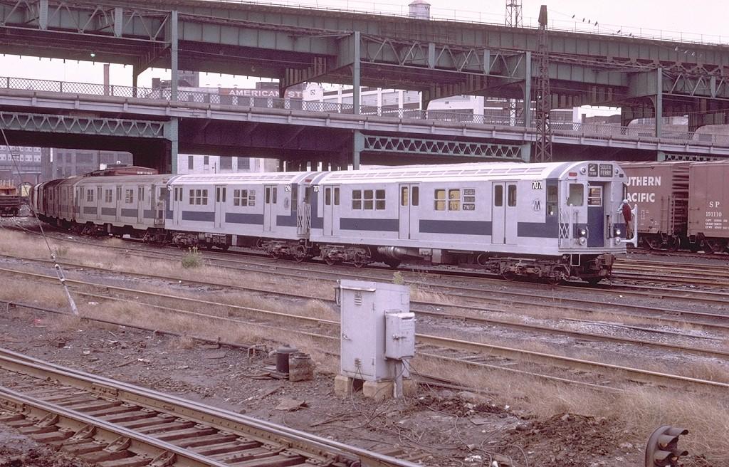 (257k, 1024x656)<br><b>Country:</b> United States<br><b>City:</b> New York<br><b>System:</b> New York City Transit<br><b>Location:</b> Sunnyside Yard<br><b>Car:</b> R-21 (St. Louis, 1956-57) 7071 <br><b>Photo by:</b> Doug Grotjahn<br><b>Collection of:</b> Joe Testagrose<br><b>Date:</b> 10/31/1971<br><b>Viewed (this week/total):</b> 0 / 5470