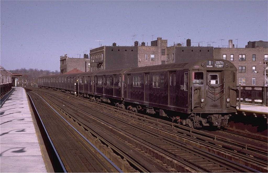 (201k, 1024x660)<br><b>Country:</b> United States<br><b>City:</b> New York<br><b>System:</b> New York City Transit<br><b>Line:</b> IRT West Side Line<br><b>Location:</b> 238th Street <br><b>Route:</b> 1<br><b>Car:</b> R-21 (St. Louis, 1956-57) 7204 <br><b>Photo by:</b> Joe Testagrose<br><b>Date:</b> 5/29/1971<br><b>Viewed (this week/total):</b> 1 / 2815