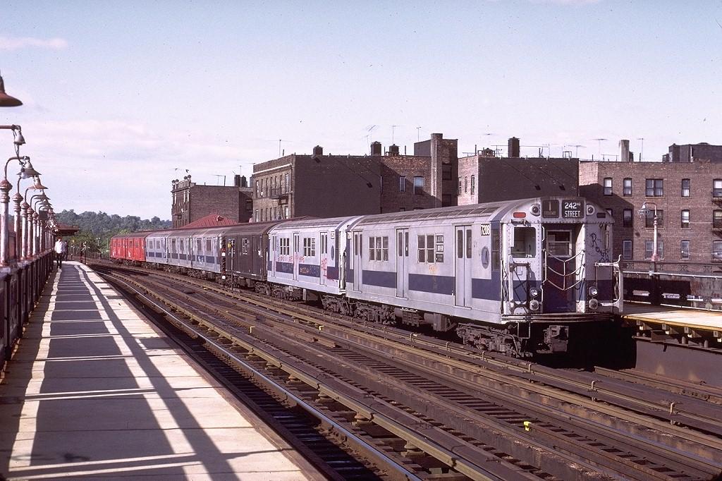 (244k, 1024x682)<br><b>Country:</b> United States<br><b>City:</b> New York<br><b>System:</b> New York City Transit<br><b>Line:</b> IRT West Side Line<br><b>Location:</b> 238th Street <br><b>Route:</b> 1<br><b>Car:</b> R-21 (St. Louis, 1956-57) 7208 <br><b>Photo by:</b> Joe Testagrose<br><b>Date:</b> 6/10/1972<br><b>Viewed (this week/total):</b> 2 / 2982