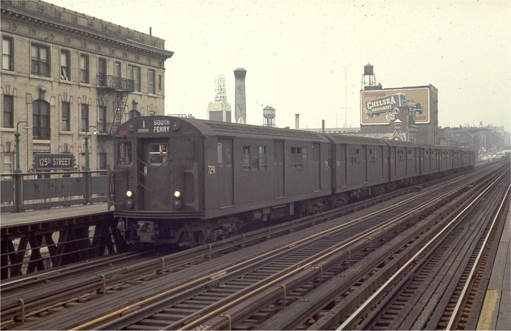 (191k, 1024x664)<br><b>Country:</b> United States<br><b>City:</b> New York<br><b>System:</b> New York City Transit<br><b>Line:</b> IRT West Side Line<br><b>Location:</b> 125th Street <br><b>Route:</b> 1<br><b>Car:</b> R-21 (St. Louis, 1956-57) 7291 <br><b>Photo by:</b> Joe Testagrose<br><b>Date:</b> 8/16/1969<br><b>Viewed (this week/total):</b> 10 / 3089