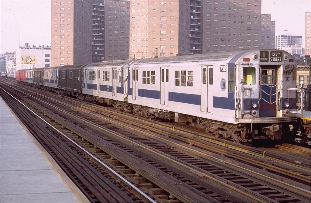 (230k, 1024x668)<br><b>Country:</b> United States<br><b>City:</b> New York<br><b>System:</b> New York City Transit<br><b>Line:</b> IRT West Side Line<br><b>Location:</b> 125th Street <br><b>Route:</b> 1<br><b>Car:</b> R-22 (St. Louis, 1957-58) 7308 <br><b>Photo by:</b> Joe Testagrose<br><b>Date:</b> 5/22/1972<br><b>Viewed (this week/total):</b> 0 / 3276