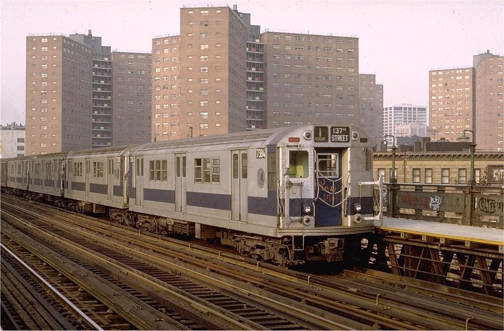 (233k, 1024x673)<br><b>Country:</b> United States<br><b>City:</b> New York<br><b>System:</b> New York City Transit<br><b>Line:</b> IRT West Side Line<br><b>Location:</b> 125th Street <br><b>Route:</b> 1<br><b>Car:</b> R-22 (St. Louis, 1957-58) 7384 <br><b>Photo by:</b> Joe Testagrose<br><b>Date:</b> 5/17/1972<br><b>Viewed (this week/total):</b> 2 / 3180