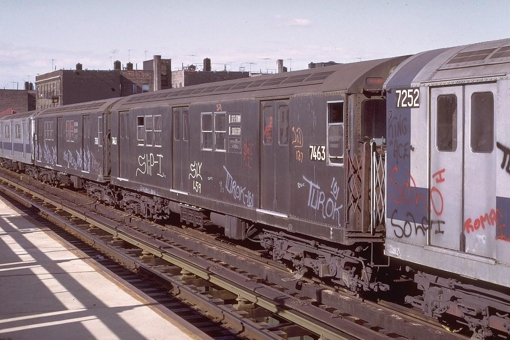 (234k, 1024x684)<br><b>Country:</b> United States<br><b>City:</b> New York<br><b>System:</b> New York City Transit<br><b>Line:</b> IRT West Side Line<br><b>Location:</b> 238th Street <br><b>Route:</b> 1<br><b>Car:</b> R-22 (St. Louis, 1957-58) 7463 <br><b>Photo by:</b> Joe Testagrose<br><b>Date:</b> 6/10/1972<br><b>Viewed (this week/total):</b> 0 / 2952