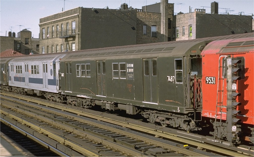 (221k, 1024x633)<br><b>Country:</b> United States<br><b>City:</b> New York<br><b>System:</b> New York City Transit<br><b>Line:</b> IRT West Side Line<br><b>Location:</b> 238th Street <br><b>Route:</b> 1<br><b>Car:</b> R-22 (St. Louis, 1957-58) 7487 <br><b>Photo by:</b> Joe Testagrose<br><b>Date:</b> 6/10/1972<br><b>Viewed (this week/total):</b> 0 / 2880