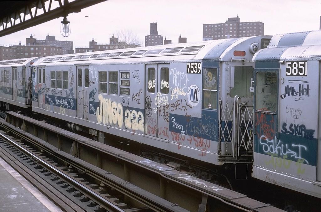 (205k, 1024x677)<br><b>Country:</b> United States<br><b>City:</b> New York<br><b>System:</b> New York City Transit<br><b>Line:</b> IRT White Plains Road Line<br><b>Location:</b> Burke Avenue <br><b>Route:</b> 5<br><b>Car:</b> R-22 (St. Louis, 1957-58) 7539 <br><b>Photo by:</b> Steve Zabel<br><b>Collection of:</b> Joe Testagrose<br><b>Date:</b> 2/3/1973<br><b>Viewed (this week/total):</b> 5 / 4768