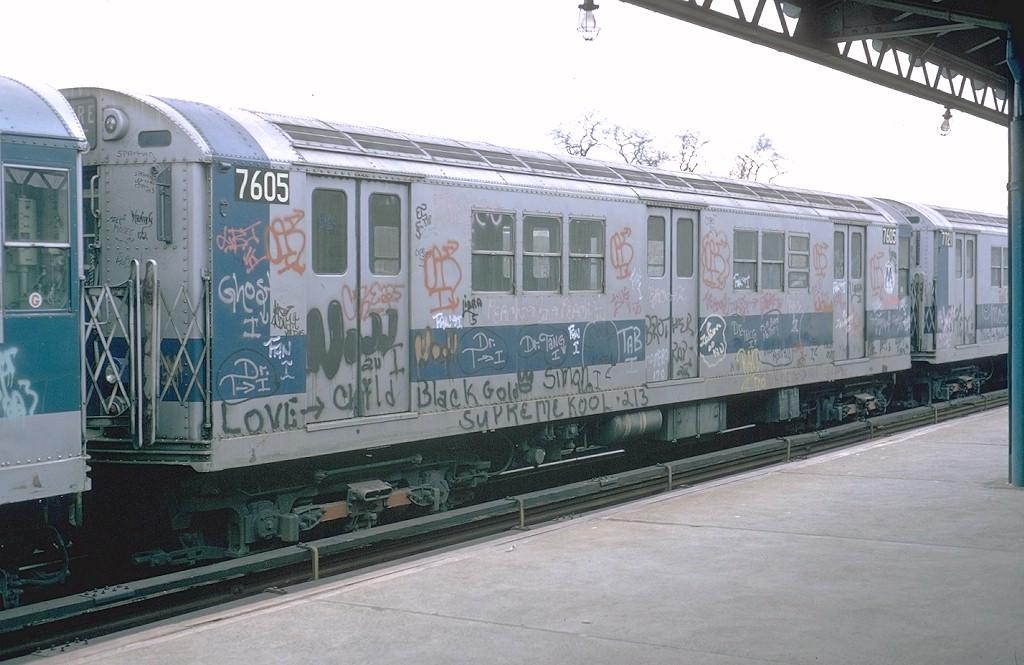 (175k, 1024x665)<br><b>Country:</b> United States<br><b>City:</b> New York<br><b>System:</b> New York City Transit<br><b>Line:</b> IRT White Plains Road Line<br><b>Location:</b> Burke Avenue <br><b>Route:</b> 5<br><b>Car:</b> R-22 (St. Louis, 1957-58) 7605 <br><b>Photo by:</b> Steve Zabel<br><b>Collection of:</b> Joe Testagrose<br><b>Date:</b> 2/3/1973<br><b>Viewed (this week/total):</b> 4 / 4532