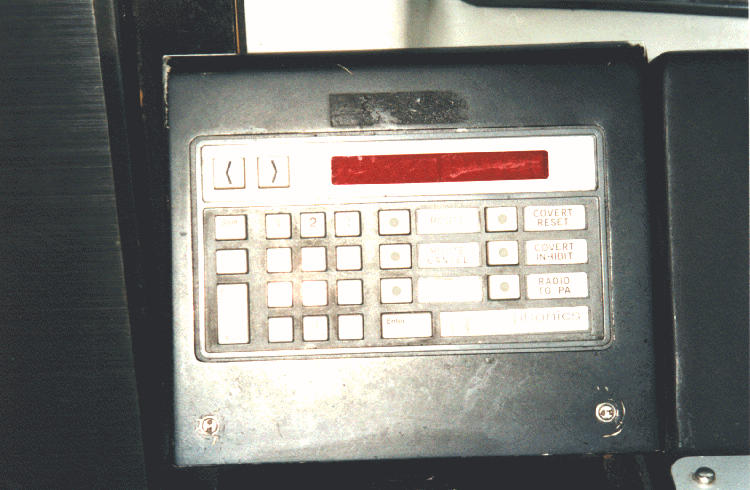(57k, 750x490)<br><b>Country:</b> United States<br><b>City:</b> New York<br><b>System:</b> New York City Transit<br><b>Car:</b> R-110A (Kawasaki, 1992) Interior <br><b>Photo by:</b> Steve Kreisler<br><b>Date:</b> 1997<br><b>Notes:</b> Electronic side sign control box<br><b>Viewed (this week/total):</b> 0 / 6095