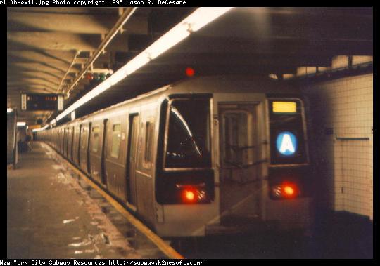 (38k, 540x379)<br><b>Country:</b> United States<br><b>City:</b> New York<br><b>System:</b> New York City Transit<br><b>Line:</b> IND 8th Avenue Line<br><b>Location:</b> 207th Street <br><b>Route:</b> A<br><b>Car:</b> R-110B (Bombardier, 1992) 3001 <br><b>Photo by:</b> Jason R. DeCesare<br><b>Date:</b> 1997<br><b>Notes:</b> Head End<br><b>Viewed (this week/total):</b> 2 / 11776