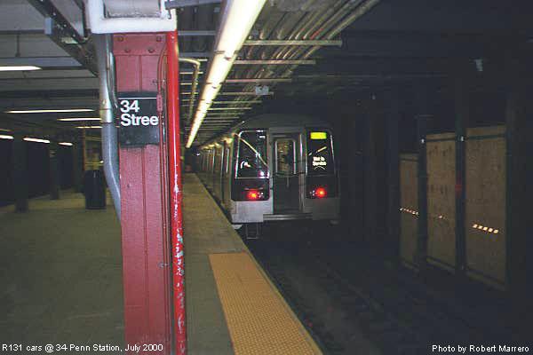 (45k, 600x400)<br><b>Country:</b> United States<br><b>City:</b> New York<br><b>System:</b> New York City Transit<br><b>Line:</b> IND 8th Avenue Line<br><b>Location:</b> 34th Street/Penn Station <br><b>Car:</b> R-110B (Bombardier, 1992)  <br><b>Photo by:</b> Robert Marrero<br><b>Date:</b> 7/2000<br><b>Viewed (this week/total):</b> 5 / 10977