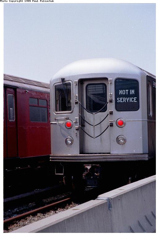 (53k, 514x760)<br><b>Country:</b> United States<br><b>City:</b> New York<br><b>System:</b> New York City Transit<br><b>Location:</b> Corona Yard<br><b>Car:</b> R-127/R-134 (Kawasaki, 1991-1996)  <br><b>Photo by:</b> Paul Polischuk<br><b>Date:</b> 6/25/1999<br><b>Viewed (this week/total):</b> 3 / 4775