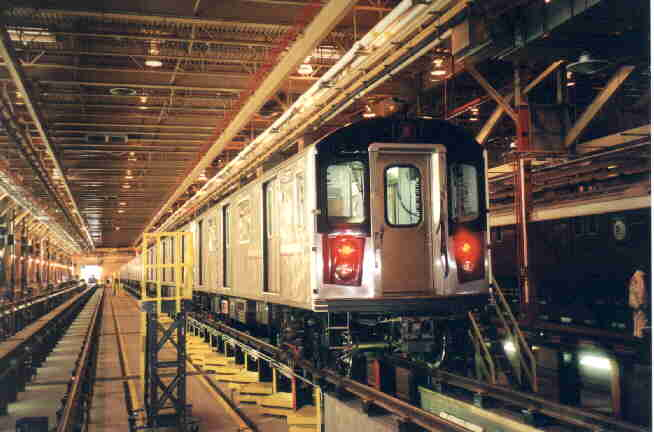 (26k, 654x432)<br><b>Country:</b> United States<br><b>City:</b> New York<br><b>System:</b> New York City Transit<br><b>Location:</b> East 180th Street Shop<br><b>Car:</b> R-142 (Primary Order, Bombardier, 1999-2002)  6301 <br><b>Photo by:</b> Steve Kreisler<br><b>Viewed (this week/total):</b> 6 / 7678