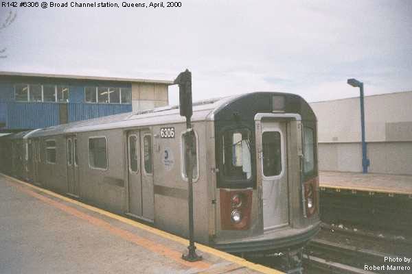 (40k, 600x400)<br><b>Country:</b> United States<br><b>City:</b> New York<br><b>System:</b> New York City Transit<br><b>Line:</b> IND Rockaway<br><b>Location:</b> Broad Channel <br><b>Car:</b> R-142 (Primary Order, Bombardier, 1999-2002)  6306 <br><b>Photo by:</b> Robert Marrero<br><b>Date:</b> 4/25/2000<br><b>Viewed (this week/total):</b> 2 / 7523