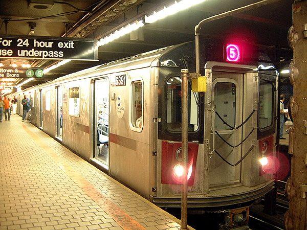 (87k, 600x450)<br><b>Country:</b> United States<br><b>City:</b> New York<br><b>System:</b> New York City Transit<br><b>Line:</b> IRT East Side Line<br><b>Location:</b> Wall Street <br><b>Car:</b> R-142 (Primary Order, Bombardier, 1999-2002)  6391 <br><b>Photo by:</b> Trevor Logan<br><b>Date:</b> 8/1/2002<br><b>Viewed (this week/total):</b> 4 / 12091