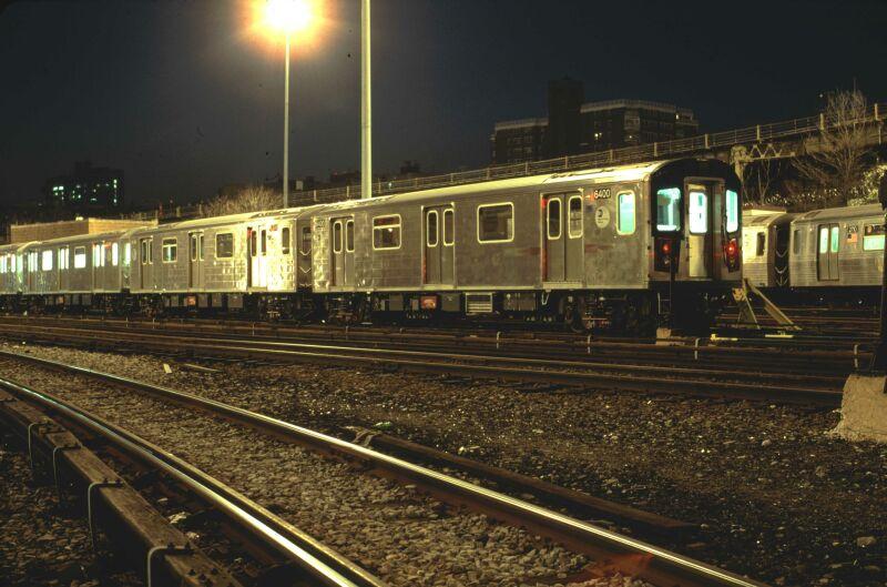 (81k, 800x529)<br><b>Country:</b> United States<br><b>City:</b> New York<br><b>System:</b> New York City Transit<br><b>Location:</b> Concourse Yard<br><b>Car:</b> R-142 (Primary Order, Bombardier, 1999-2002)  6400 <br><b>Photo by:</b> Glenn L. Rowe<br><b>Date:</b> 4/16/2002<br><b>Viewed (this week/total):</b> 0 / 5477