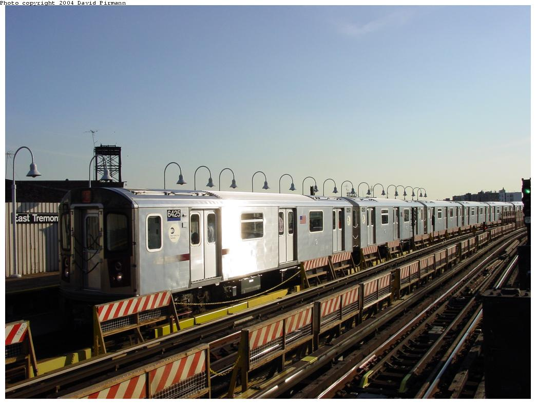 (109k, 1044x788)<br><b>Country:</b> United States<br><b>City:</b> New York<br><b>System:</b> New York City Transit<br><b>Line:</b> IRT White Plains Road Line<br><b>Location:</b> West Farms Sq./East Tremont Ave./177th St. <br><b>Route:</b> 2<br><b>Car:</b> R-142 (Primary Order, Bombardier, 1999-2002)  6425 <br><b>Photo by:</b> David Pirmann<br><b>Date:</b> 8/21/2002<br><b>Viewed (this week/total):</b> 8 / 4736