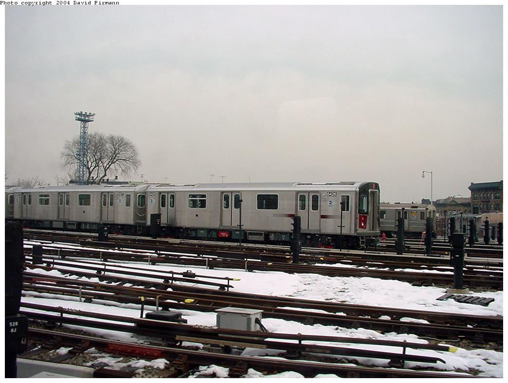 (117k, 1044x788)<br><b>Country:</b> United States<br><b>City:</b> New York<br><b>System:</b> New York City Transit<br><b>Location:</b> Unionport Yard<br><b>Car:</b> R-142 (Primary Order, Bombardier, 1999-2002)  6426 <br><b>Photo by:</b> David Pirmann<br><b>Date:</b> 1/14/2001<br><b>Viewed (this week/total):</b> 4 / 4634