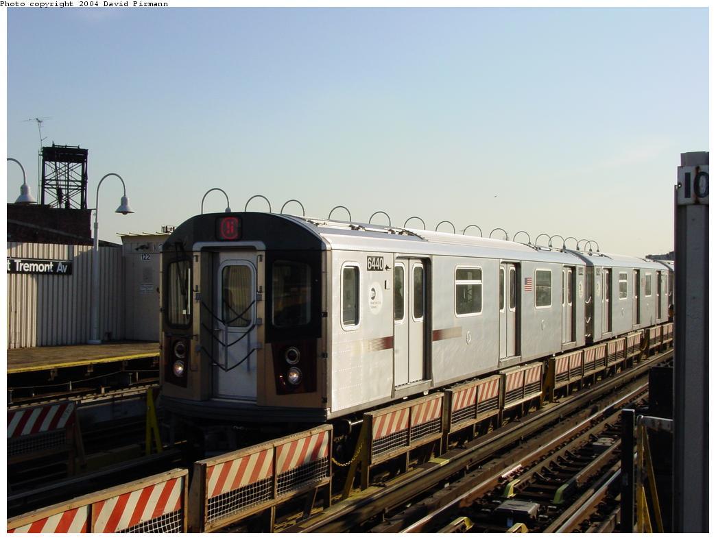 (105k, 1044x788)<br><b>Country:</b> United States<br><b>City:</b> New York<br><b>System:</b> New York City Transit<br><b>Line:</b> IRT White Plains Road Line<br><b>Location:</b> West Farms Sq./East Tremont Ave./177th St. <br><b>Route:</b> 5<br><b>Car:</b> R-142 (Primary Order, Bombardier, 1999-2002)  6440 <br><b>Photo by:</b> David Pirmann<br><b>Date:</b> 8/21/2002<br><b>Viewed (this week/total):</b> 0 / 4985