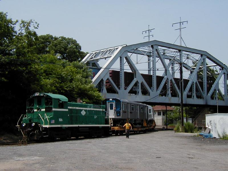 (76k, 800x600)<br><b>Country:</b> United States<br><b>City:</b> New York<br><b>System:</b> New York City Transit<br><b>Location:</b> LIRR/NY & Atlantic RR Fresh Pond Yard <br><b>Car:</b> R-142 (Primary Order, Bombardier, 1999-2002)  6515 <br><b>Photo by:</b> Doug Diamond<br><b>Date:</b> 7/2001<br><b>Viewed (this week/total):</b> 1 / 7936