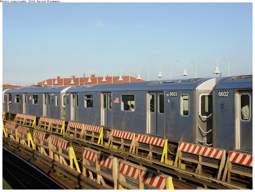(118k, 1044x788)<br><b>Country:</b> United States<br><b>City:</b> New York<br><b>System:</b> New York City Transit<br><b>Line:</b> IRT White Plains Road Line<br><b>Location:</b> West Farms Sq./East Tremont Ave./177th St. <br><b>Route:</b> 2<br><b>Car:</b> R-142 (Primary Order, Bombardier, 1999-2002)  6603 <br><b>Photo by:</b> David Pirmann<br><b>Date:</b> 8/21/2002<br><b>Viewed (this week/total):</b> 6 / 3367