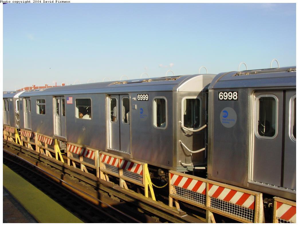 (102k, 1044x788)<br><b>Country:</b> United States<br><b>City:</b> New York<br><b>System:</b> New York City Transit<br><b>Line:</b> IRT White Plains Road Line<br><b>Location:</b> West Farms Sq./East Tremont Ave./177th St. <br><b>Route:</b> 5<br><b>Car:</b> R-142 (Option Order, Bombardier, 2002-2003)  6999 <br><b>Photo by:</b> David Pirmann<br><b>Date:</b> 8/21/2002<br><b>Viewed (this week/total):</b> 1 / 4265