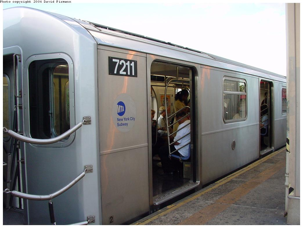 (96k, 1044x788)<br><b>Country:</b> United States<br><b>City:</b> New York<br><b>System:</b> New York City Transit<br><b>Line:</b> IRT Pelham Line<br><b>Location:</b> East 177th Street/Parkchester <br><b>Route:</b> 6<br><b>Car:</b> R-142A (Primary Order, Kawasaki, 1999-2002)  7211 <br><b>Photo by:</b> David Pirmann<br><b>Date:</b> 7/11/2000<br><b>Viewed (this week/total):</b> 2 / 6218