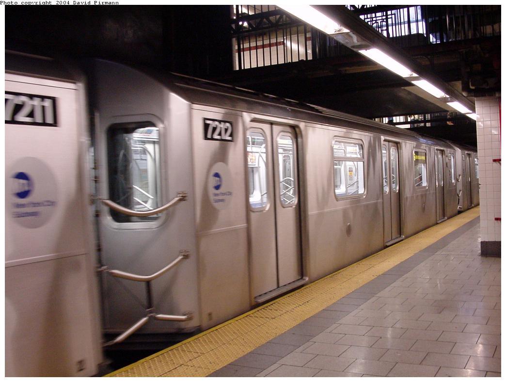 (107k, 1044x788)<br><b>Country:</b> United States<br><b>City:</b> New York<br><b>System:</b> New York City Transit<br><b>Line:</b> IRT East Side Line<br><b>Location:</b> Brooklyn Bridge/City Hall <br><b>Route:</b> 6<br><b>Car:</b> R-142A (Primary Order, Kawasaki, 1999-2002)  7212 <br><b>Photo by:</b> David Pirmann<br><b>Date:</b> 7/29/2000<br><b>Viewed (this week/total):</b> 1 / 4737