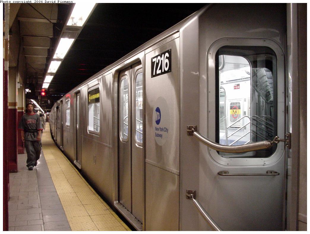 (118k, 1044x788)<br><b>Country:</b> United States<br><b>City:</b> New York<br><b>System:</b> New York City Transit<br><b>Line:</b> IRT East Side Line<br><b>Location:</b> Brooklyn Bridge/City Hall <br><b>Route:</b> 6<br><b>Car:</b> R-142A (Primary Order, Kawasaki, 1999-2002)  7216 <br><b>Photo by:</b> David Pirmann<br><b>Date:</b> 7/11/2000<br><b>Viewed (this week/total):</b> 5 / 5145