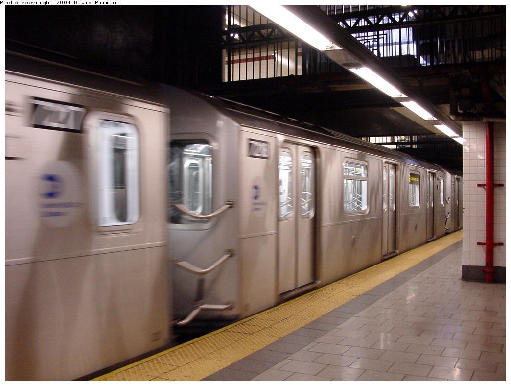 (110k, 1044x788)<br><b>Country:</b> United States<br><b>City:</b> New York<br><b>System:</b> New York City Transit<br><b>Line:</b> IRT East Side Line<br><b>Location:</b> Brooklyn Bridge/City Hall <br><b>Route:</b> 6<br><b>Car:</b> R-142A (Primary Order, Kawasaki, 1999-2002)  7218 <br><b>Photo by:</b> David Pirmann<br><b>Date:</b> 7/29/2000<br><b>Viewed (this week/total):</b> 3 / 3784