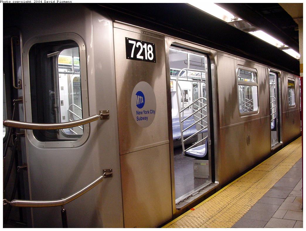 (127k, 1044x788)<br><b>Country:</b> United States<br><b>City:</b> New York<br><b>System:</b> New York City Transit<br><b>Line:</b> IRT East Side Line<br><b>Location:</b> Brooklyn Bridge/City Hall <br><b>Route:</b> 6<br><b>Car:</b> R-142A (Primary Order, Kawasaki, 1999-2002)  7218 <br><b>Photo by:</b> David Pirmann<br><b>Date:</b> 7/11/2000<br><b>Viewed (this week/total):</b> 4 / 4921