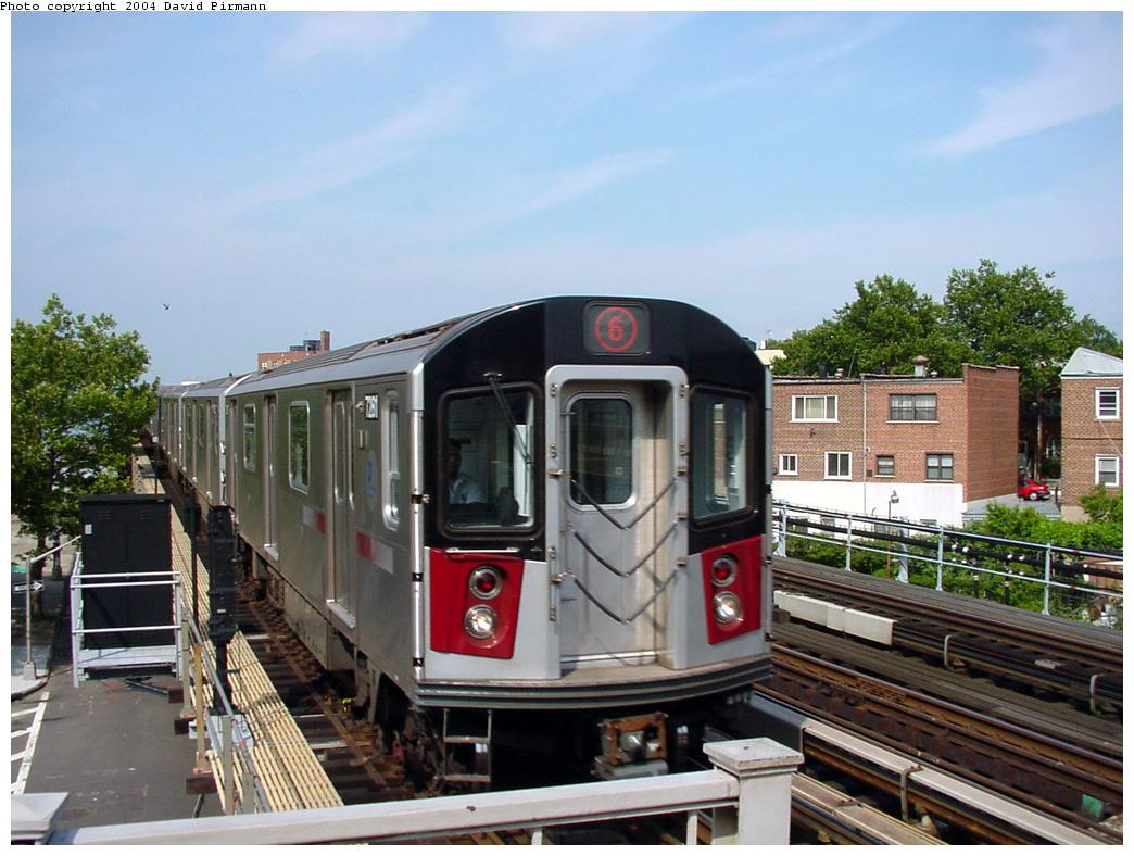 (129k, 1044x788)<br><b>Country:</b> United States<br><b>City:</b> New York<br><b>System:</b> New York City Transit<br><b>Line:</b> IRT Pelham Line<br><b>Location:</b> Middletown Road <br><b>Route:</b> 6<br><b>Car:</b> R-142A (Primary Order, Kawasaki, 1999-2002)  7281 <br><b>Photo by:</b> David Pirmann<br><b>Date:</b> 7/4/2001<br><b>Viewed (this week/total):</b> 3 / 13663