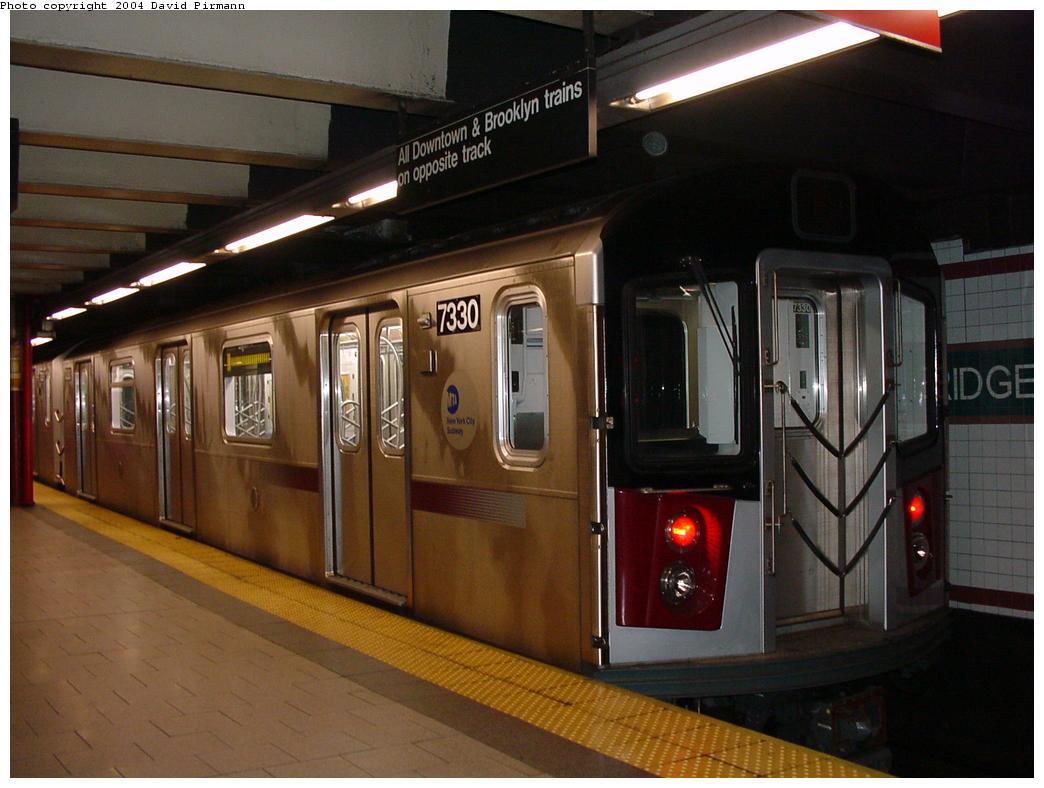 (104k, 1044x788)<br><b>Country:</b> United States<br><b>City:</b> New York<br><b>System:</b> New York City Transit<br><b>Line:</b> IRT East Side Line<br><b>Location:</b> Brooklyn Bridge/City Hall <br><b>Route:</b> 6<br><b>Car:</b> R-142A (Primary Order, Kawasaki, 1999-2002)  7330 <br><b>Photo by:</b> David Pirmann<br><b>Date:</b> 7/4/2001<br><b>Viewed (this week/total):</b> 0 / 7045