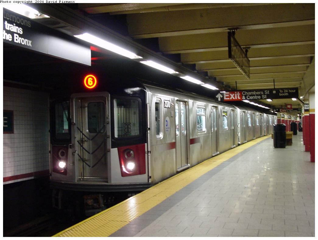 (95k, 1044x788)<br><b>Country:</b> United States<br><b>City:</b> New York<br><b>System:</b> New York City Transit<br><b>Line:</b> IRT East Side Line<br><b>Location:</b> Brooklyn Bridge/City Hall <br><b>Route:</b> 6<br><b>Car:</b> R-142A (Primary Order, Kawasaki, 1999-2002)  7370 <br><b>Photo by:</b> David Pirmann<br><b>Date:</b> 7/4/2001<br><b>Viewed (this week/total):</b> 4 / 6835