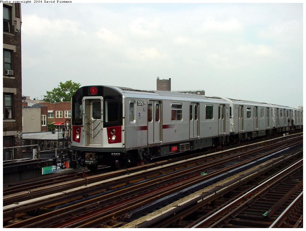 (119k, 1044x788)<br><b>Country:</b> United States<br><b>City:</b> New York<br><b>System:</b> New York City Transit<br><b>Line:</b> IRT Pelham Line<br><b>Location:</b> Elder Avenue <br><b>Route:</b> 6<br><b>Car:</b> R-142A (Primary Order, Kawasaki, 1999-2002)  7375 <br><b>Photo by:</b> David Pirmann<br><b>Date:</b> 7/4/2001<br><b>Viewed (this week/total):</b> 5 / 4707