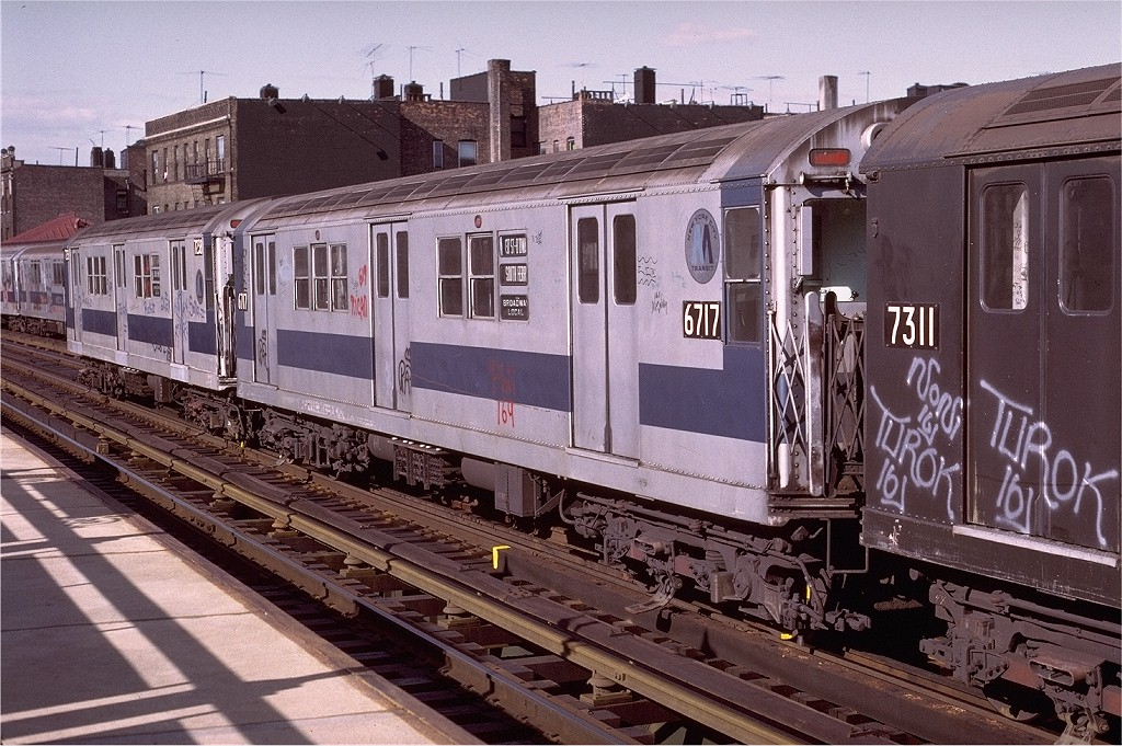(253k, 1024x681)<br><b>Country:</b> United States<br><b>City:</b> New York<br><b>System:</b> New York City Transit<br><b>Line:</b> IRT West Side Line<br><b>Location:</b> 238th Street <br><b>Route:</b> 1<br><b>Car:</b> R-17 (St. Louis, 1955-56) 6717 <br><b>Photo by:</b> Joe Testagrose<br><b>Date:</b> 6/10/1972<br><b>Viewed (this week/total):</b> 2 / 2468