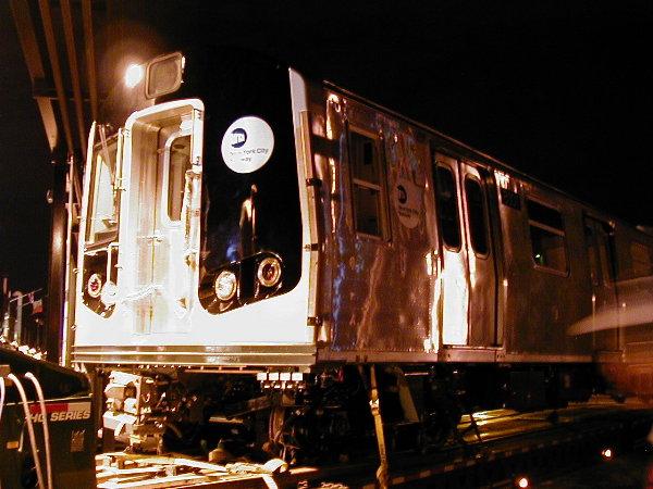 (80k, 600x450)<br><b>Country:</b> United States<br><b>City:</b> New York<br><b>System:</b> New York City Transit<br><b>Location:</b> 207th Street Yard<br><b>Car:</b> R-143 (Kawasaki, 2001-2002) 8101 <br><b>Photo by:</b> Trevor Logan<br><b>Date:</b> 4/30/2001<br><b>Viewed (this week/total):</b> 0 / 3639