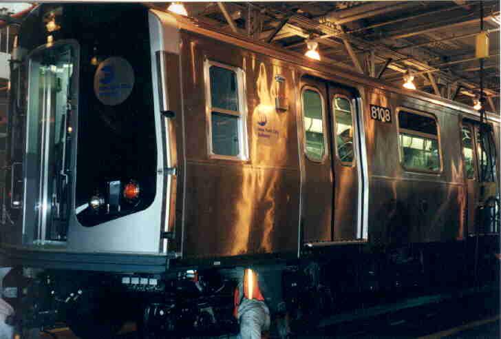 (25k, 728x492)<br><b>Country:</b> United States<br><b>City:</b> New York<br><b>System:</b> New York City Transit<br><b>Location:</b> East New York Yard/Shops<br><b>Car:</b> R-143 (Kawasaki, 2001-2002) 8108 <br><b>Photo by:</b> Steve Kreisler<br><b>Date:</b> 5/21/2001<br><b>Viewed (this week/total):</b> 1 / 4438