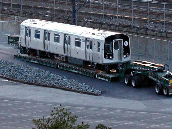 (154k, 600x450)<br><b>Country:</b> United States<br><b>City:</b> New York<br><b>System:</b> New York City Transit<br><b>Location:</b> Kawasaki Plant, Yonkers, NY<br><b>Car:</b> R-143 (Kawasaki, 2001-2002) 8109 <br><b>Photo by:</b> Trevor Logan<br><b>Date:</b> 12/25/2001<br><b>Viewed (this week/total):</b> 0 / 6745