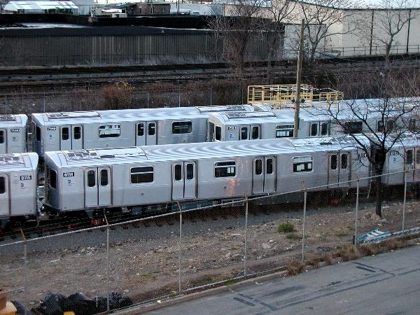 (80k, 600x450)<br><b>Country:</b> United States<br><b>City:</b> New York<br><b>System:</b> New York City Transit<br><b>Location:</b> Kawasaki Plant, Yonkers, NY<br><b>Car:</b> R-143 (Kawasaki, 2001-2002) 8114 <br><b>Photo by:</b> Trevor Logan<br><b>Date:</b> 12/25/2001<br><b>Viewed (this week/total):</b> 0 / 5892