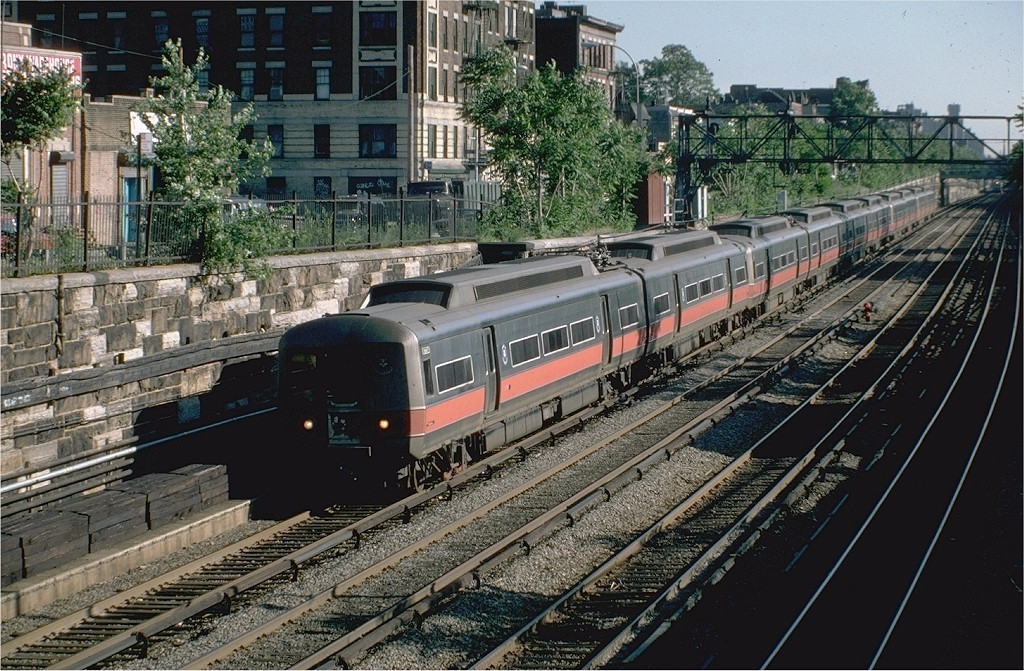(271k, 1024x671)<br><b>Country:</b> United States<br><b>System:</b> Metro-North Railroad (or Amtrak or Predecessor RR)<br><b>Line:</b> Metro North-Harlem Line<br><b>Location:</b> 183rd St. <br><b>Car:</b> MNRR M-2 EMU (GE/Vickers) 8764 <br><b>Photo by:</b> Steve Zabel<br><b>Collection of:</b> Joe Testagrose<br><b>Date:</b> 6/2/1982<br><b>Viewed (this week/total):</b> 0 / 2611