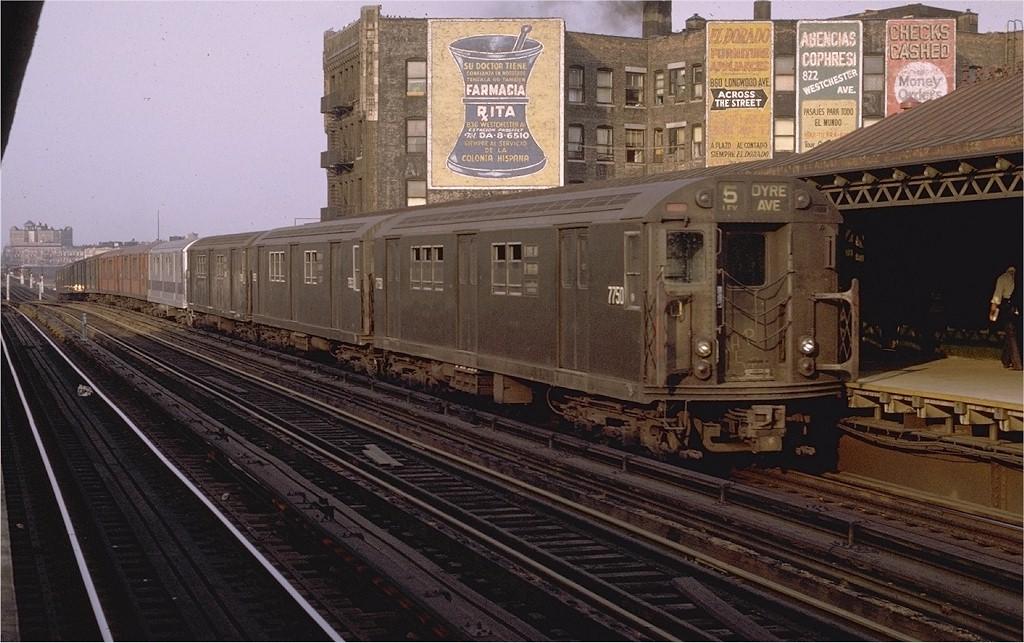 (207k, 1024x643)<br><b>Country:</b> United States<br><b>City:</b> New York<br><b>System:</b> New York City Transit<br><b>Line:</b> IRT White Plains Road Line<br><b>Location:</b> Prospect Avenue <br><b>Route:</b> 5<br><b>Car:</b> R-26 (American Car & Foundry, 1959-60) 7750 <br><b>Photo by:</b> Joe Testagrose<br><b>Date:</b> 5/9/1970<br><b>Viewed (this week/total):</b> 1 / 3263
