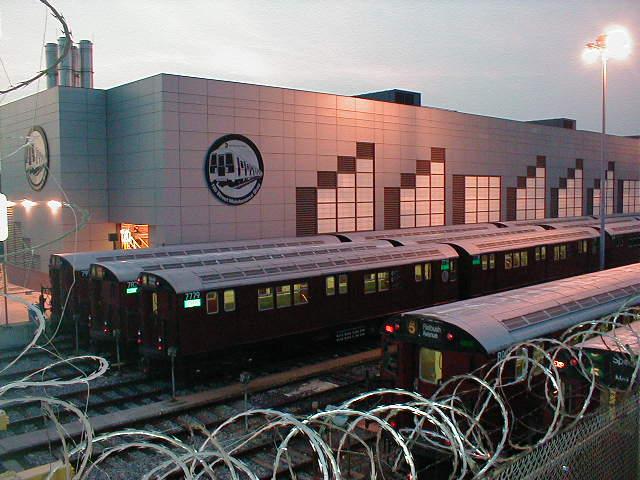 (61k, 640x480)<br><b>Country:</b> United States<br><b>City:</b> New York<br><b>System:</b> New York City Transit<br><b>Location:</b> East 180th Street Yard<br><b>Car:</b> R-26 (American Car & Foundry, 1959-60) 7779 <br><b>Photo by:</b> Nathan Comens<br><b>Date:</b> 8/7/2000<br><b>Viewed (this week/total):</b> 0 / 6430